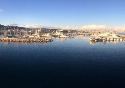 Arrivée au port - vue panoramique