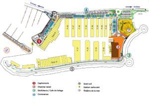 Plan du port Camille Rayon