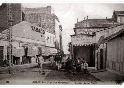 Début de la route Napoléon vers 1900