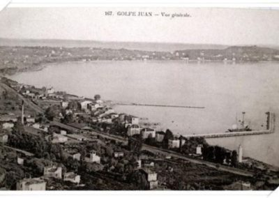 General view of  Golfe Juan 1906